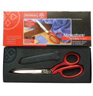 Mundial Serra Sharp Red Handle Scissors